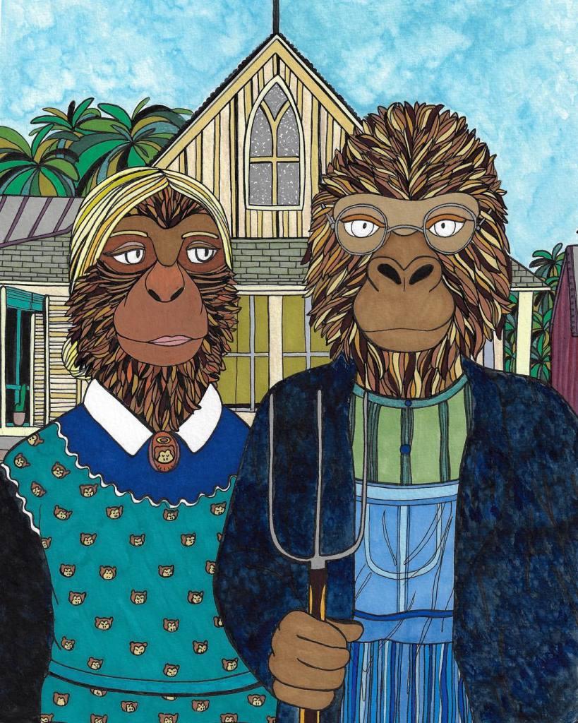 Leona Rose - American farmer monkeys