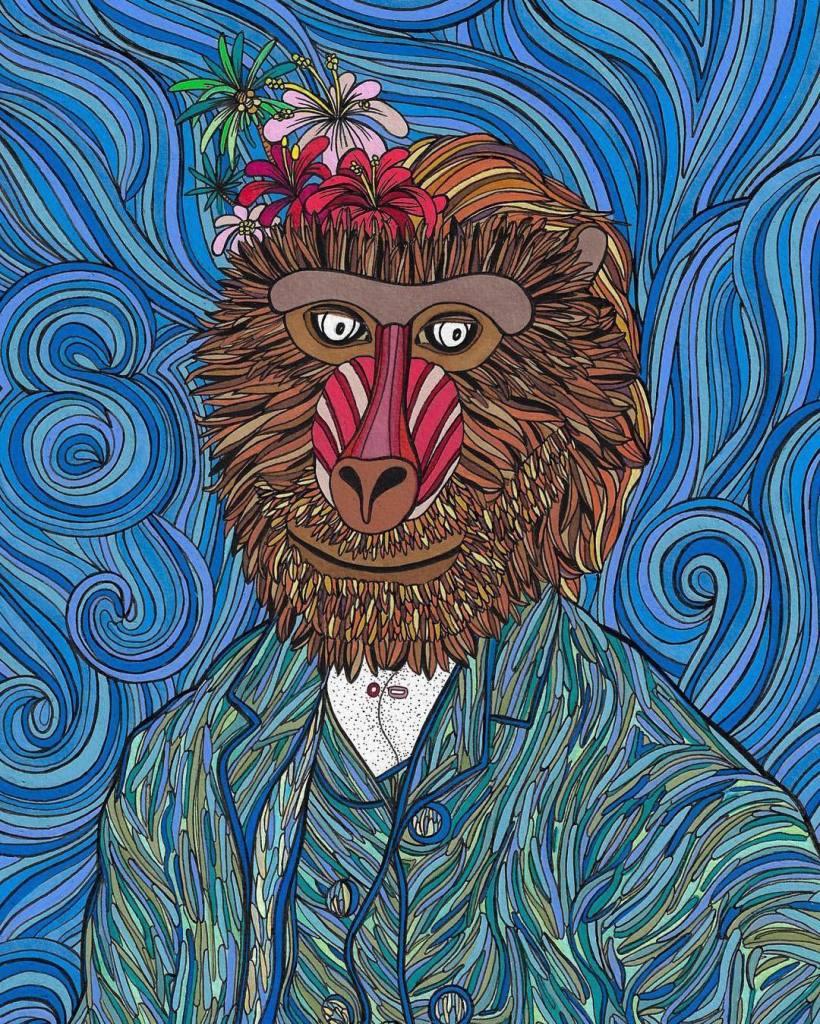 Leona Rose - Van Gogh monkey