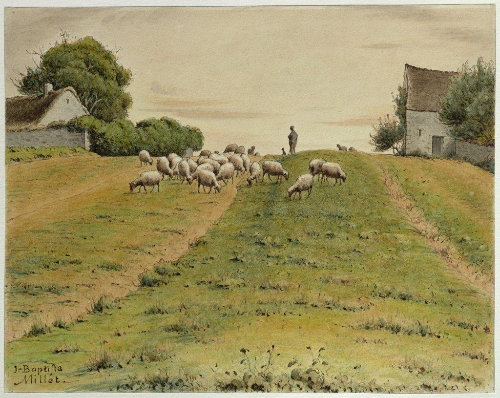 Jean-Baptiste Millet, Troupeau de moutons