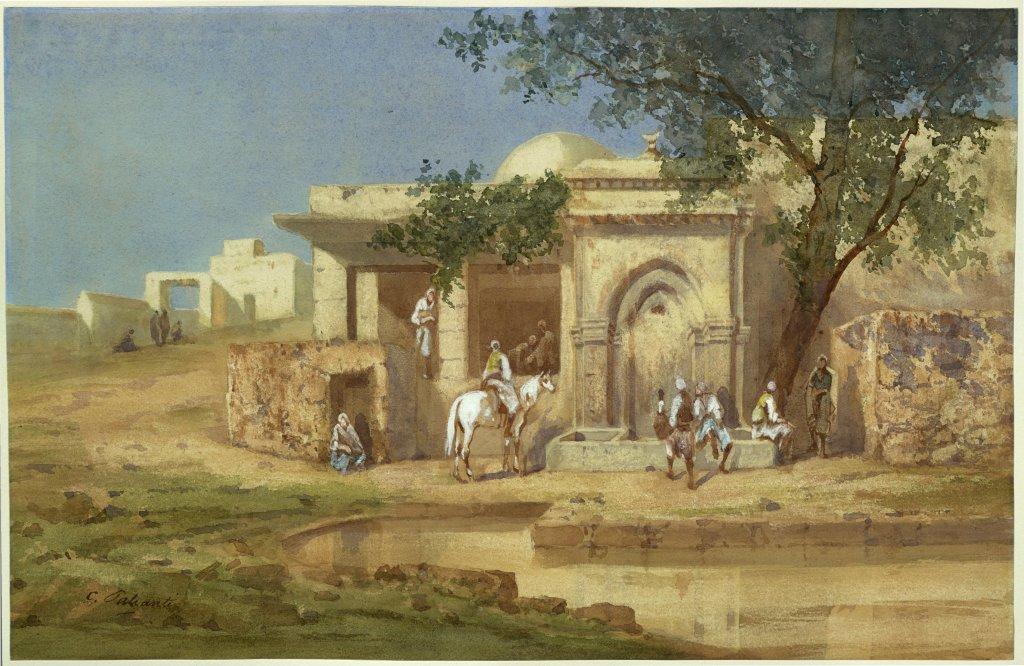 Charles Palianti, Intérieur de village en Orient