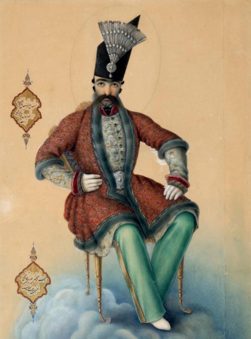 Portrait de Nasir al-Din Shah - Louvre Lens