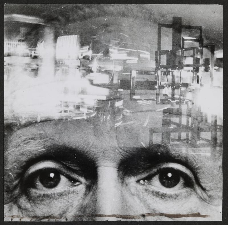 Rétrospective de Nicolas Schöffer au LaM 2018 - Portrait de Nicolas Schöffer (superposition), vers 1954. © DR