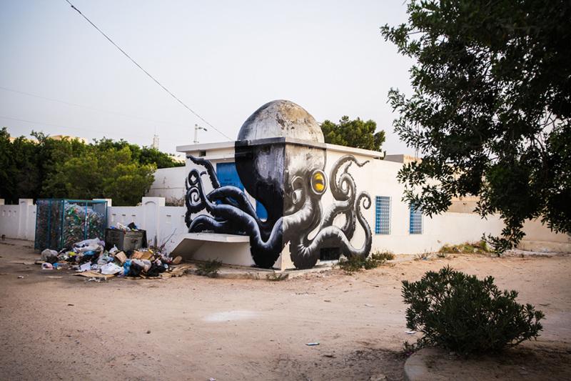 Pieuvre - Djerbahood