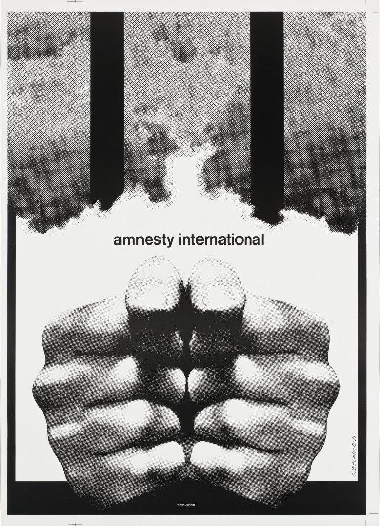 Roman Cieslewicz, Amnesty International, 1975 © Adagp Paris Jean Tholance