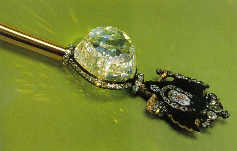 Sceptre avec diamant Orloff