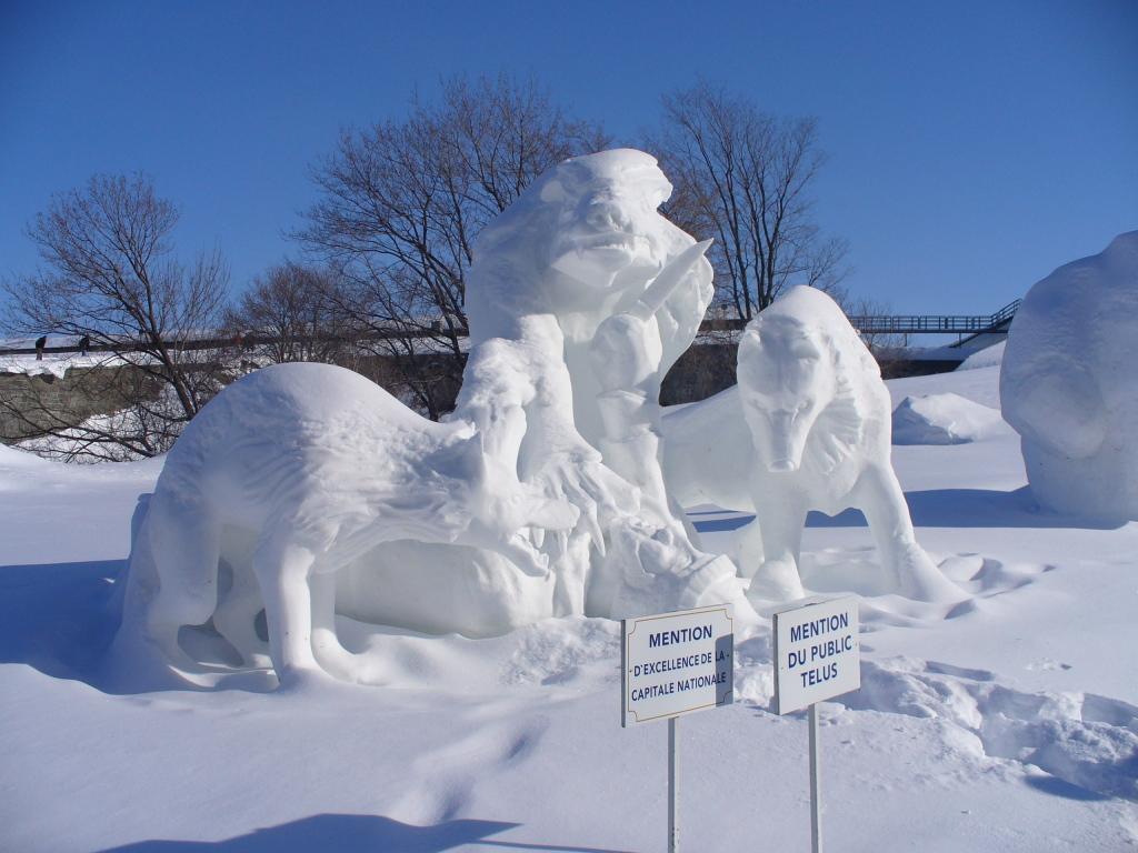 Sculpture sur neige