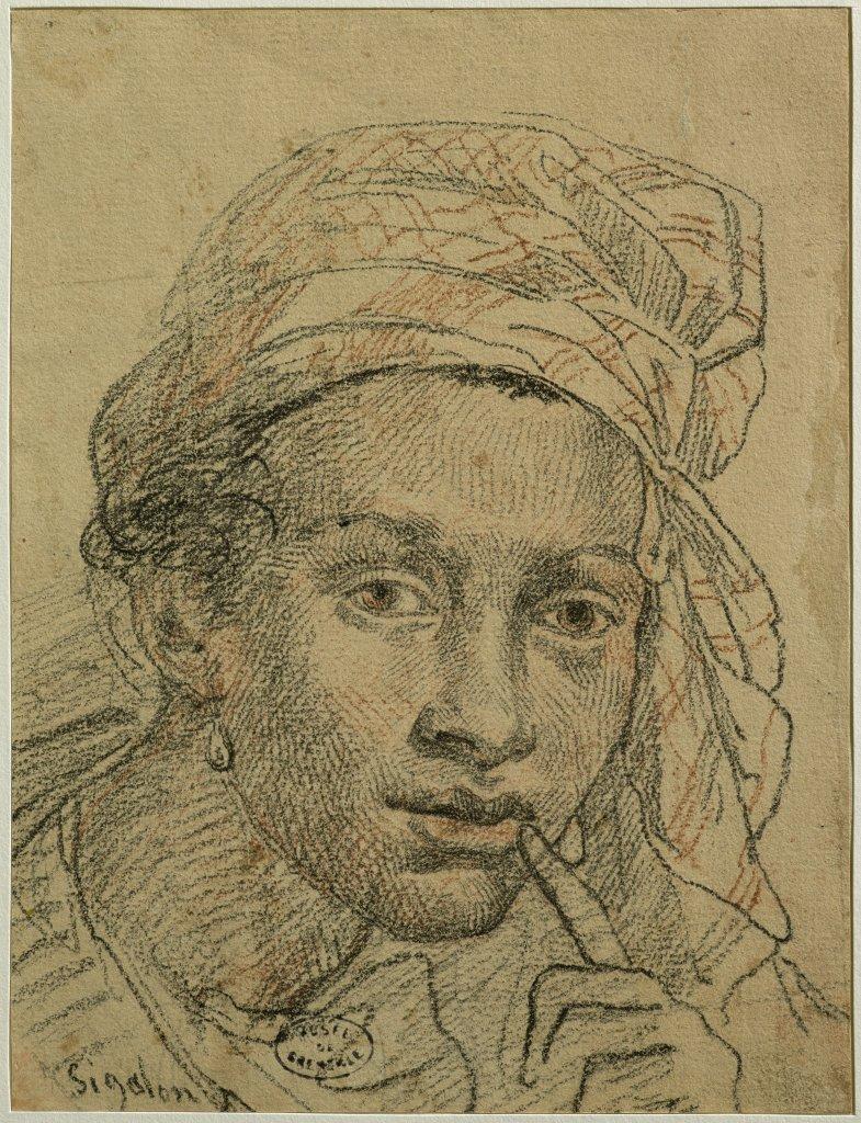Xavier Sigalon, Tête d'Antillaise, 1821