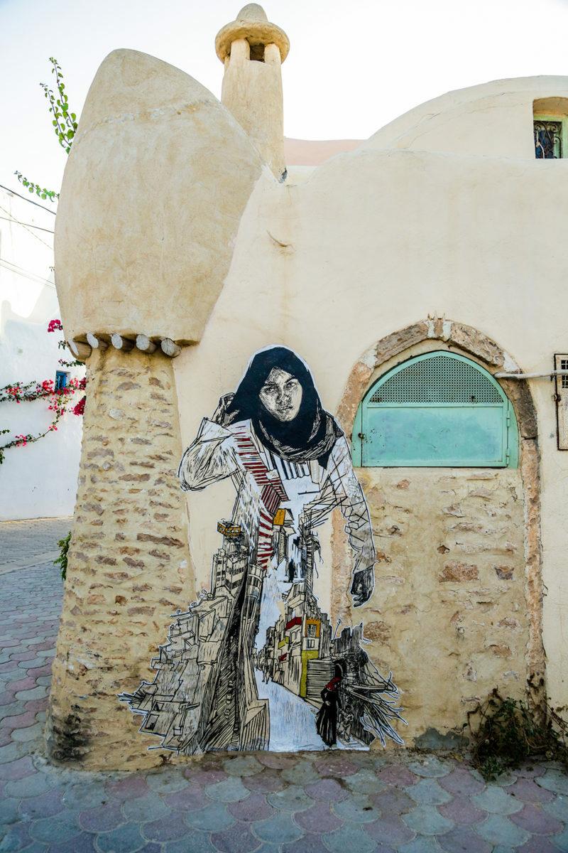 Personnage femme - Djerbahood