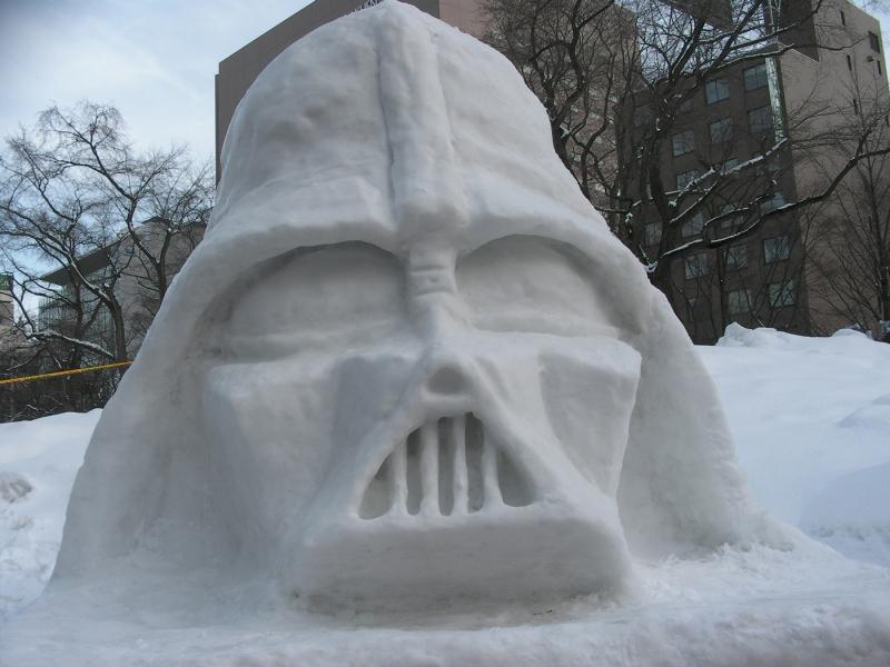 Sculpture Dark Vador de neige