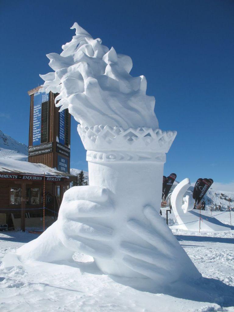 Sculpture de neige