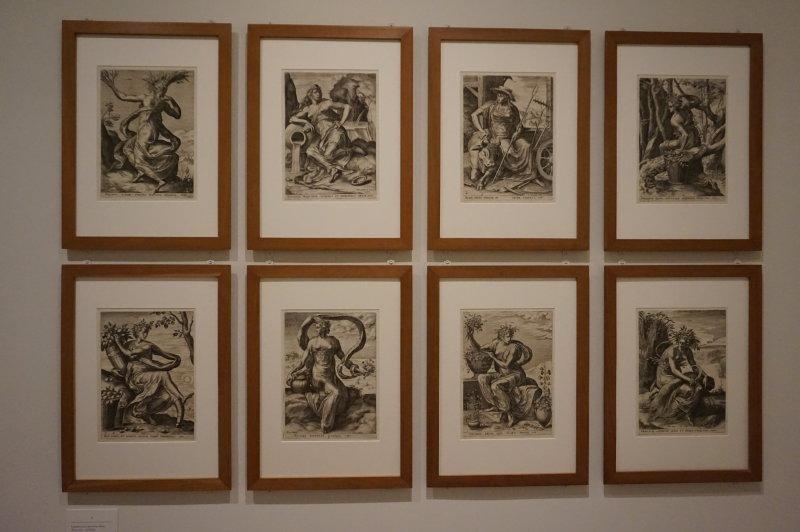 Vue de l'exposition Georges Michel à la Fondation Custodia