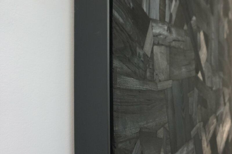 Vue de l'exposition Lee Bae, Black Mapping - Galerie Perrotin (10)