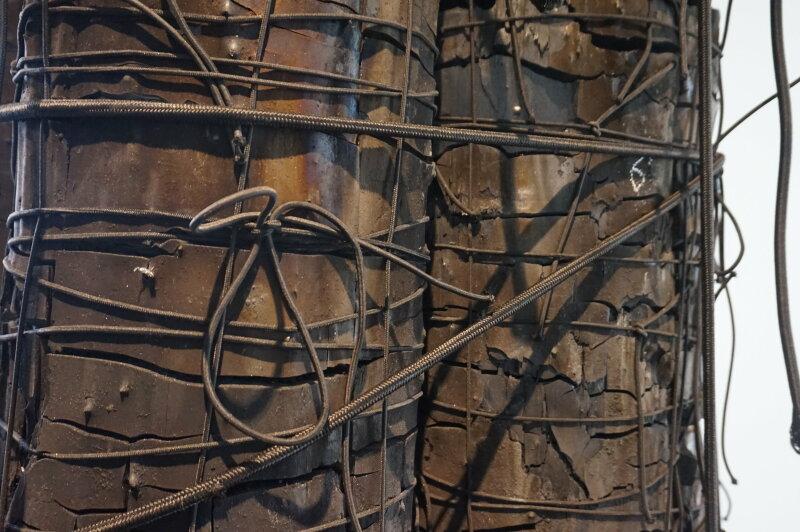 Vue de l'exposition Lee Bae, Black Mapping - Galerie Perrotin (25)