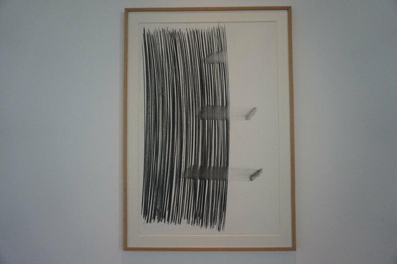Vue de l'exposition Lee Bae, Black Mapping - Galerie Perrotin (27)