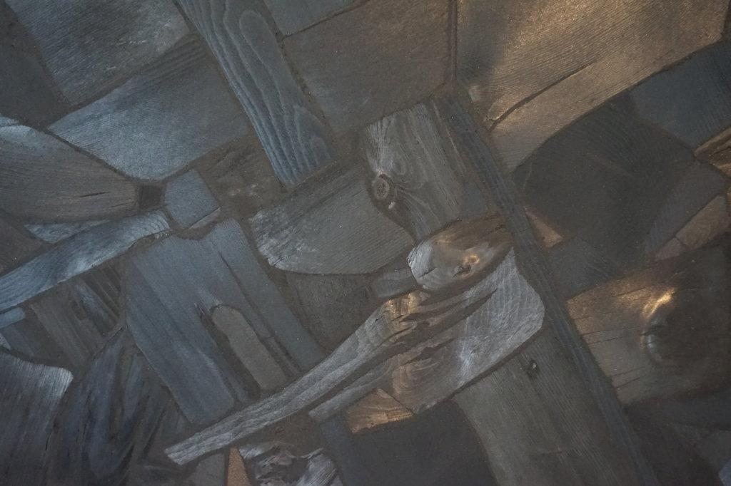 Vue de l'exposition Lee Bae, Black Mapping - Galerie Perrotin (32)