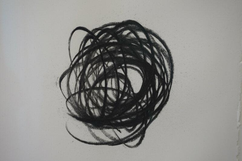 Vue de l'exposition Lee Bae, Black Mapping - Galerie Perrotin (45)