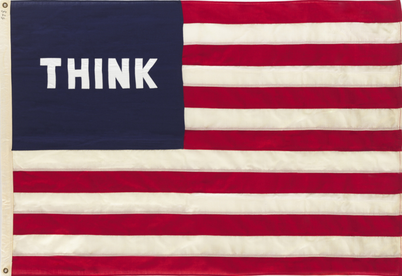 William Copley - Imaginary Flag for USA - exposition Think. America, America how is real? - Museum Frieder Burda