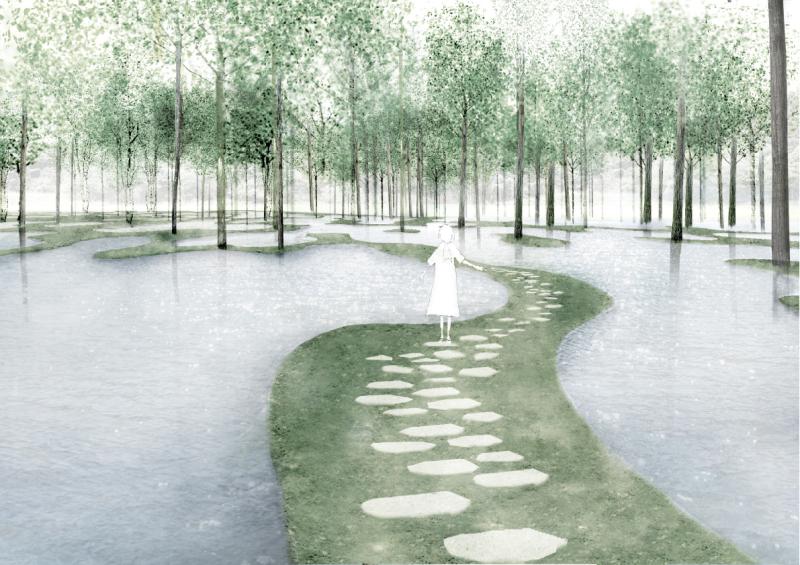 02. Junya Ishigami. Art Biofarm - Perspective view.