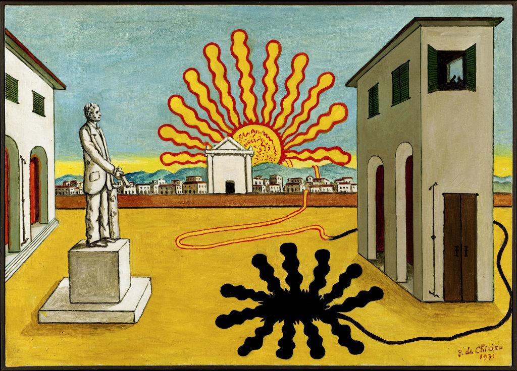 Piazza d'italia con sole spento (Place d'Italie avec soleil éteint)
