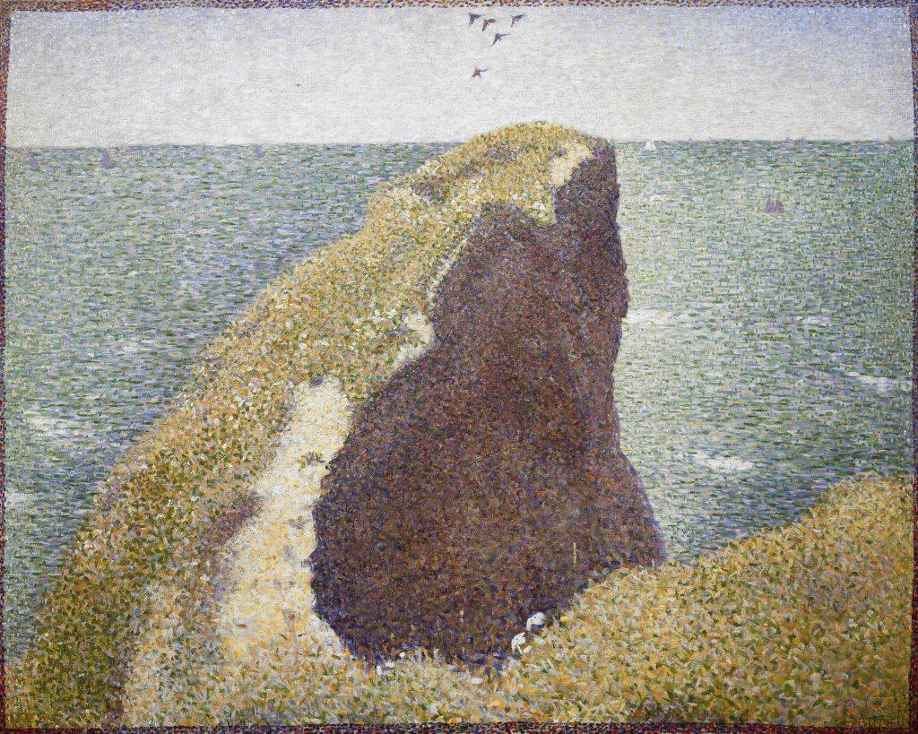 Georges Seurat Le Bec du Hoc, Grandcamp, 1885