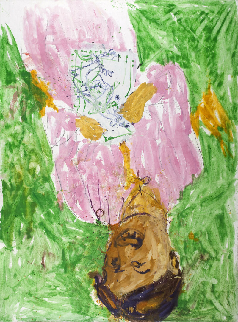 Georg Baselitz (né en 1938). Madame Cézanne. Huile sur toile, 1998. Paris, musée d'Art Moderne.