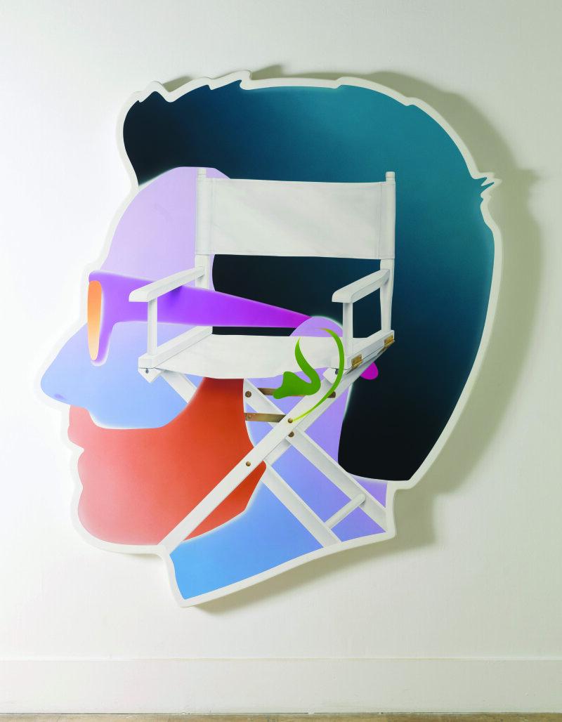Alex Israël (né en 1982). Self-Portrait (Director's Chair). Acrylique et bondo sur fibre de verre. 2014. Paris, musée d'Art moderne.