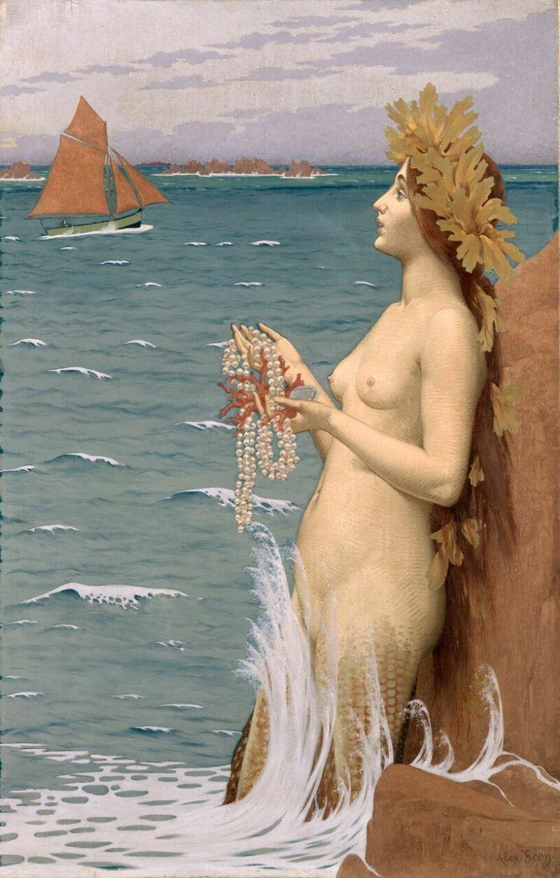 Alexandre SÉON, La Sirène, 1896 © Yves Bresson - Musée d'art moderne et contemporain de Saint-Etienne Métropole