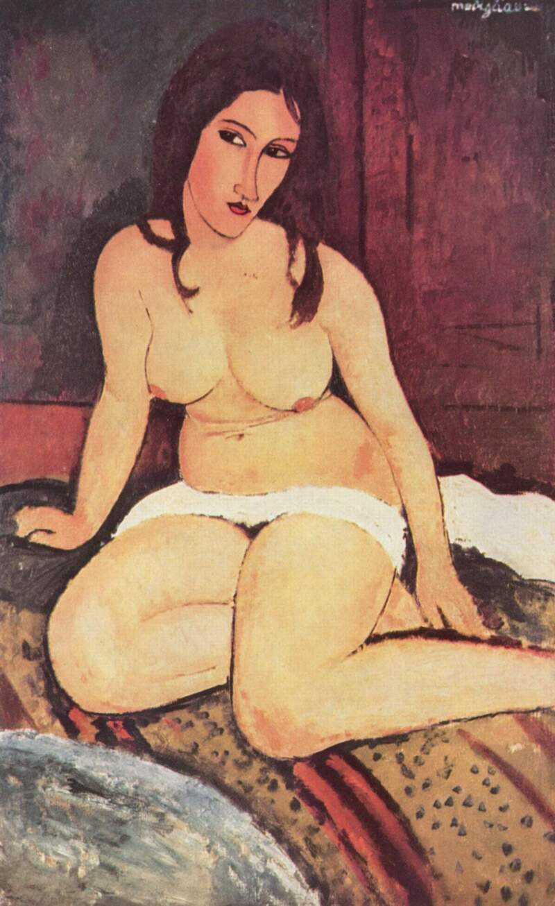 Amedeo_Modigliani_Seated Nude_1917