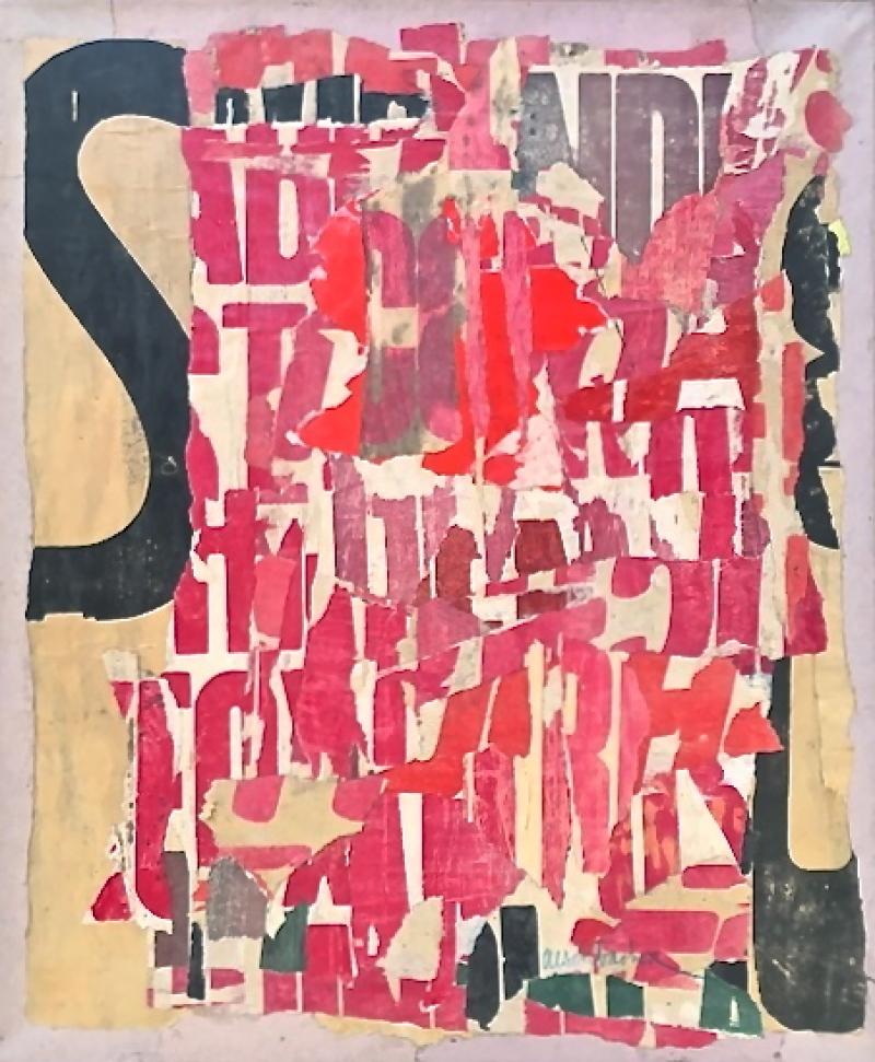 Arthur Aeschbacher, Une tasse, 1960. Collage sur papier marouflé sur toile (par l'artiste) GALERIE ARTVIE