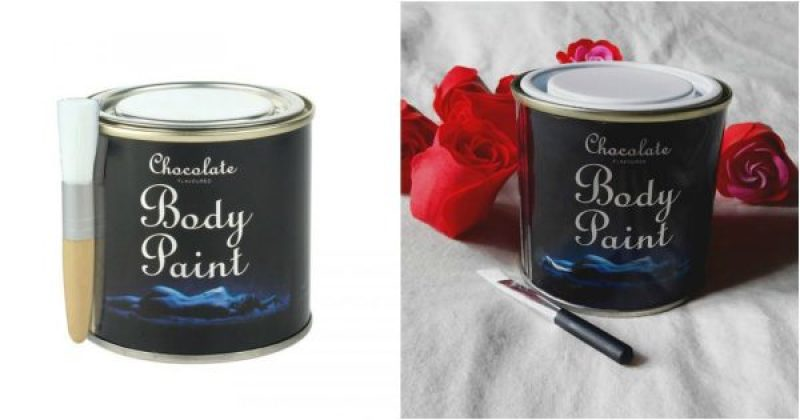 Body paint au chocolat