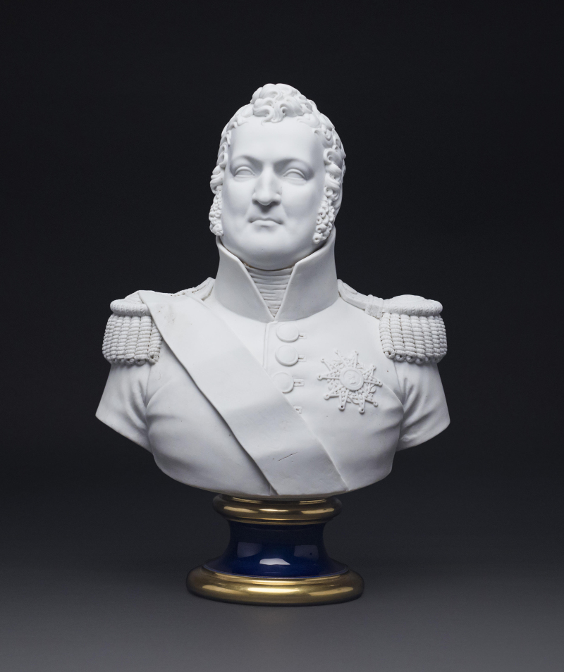 Buste en biscuit et porcelaine de Sèvres du Roi Louis Philippe 1831 - Maxime Charron expert en souvenirs historiques et porcelaines europÇenne