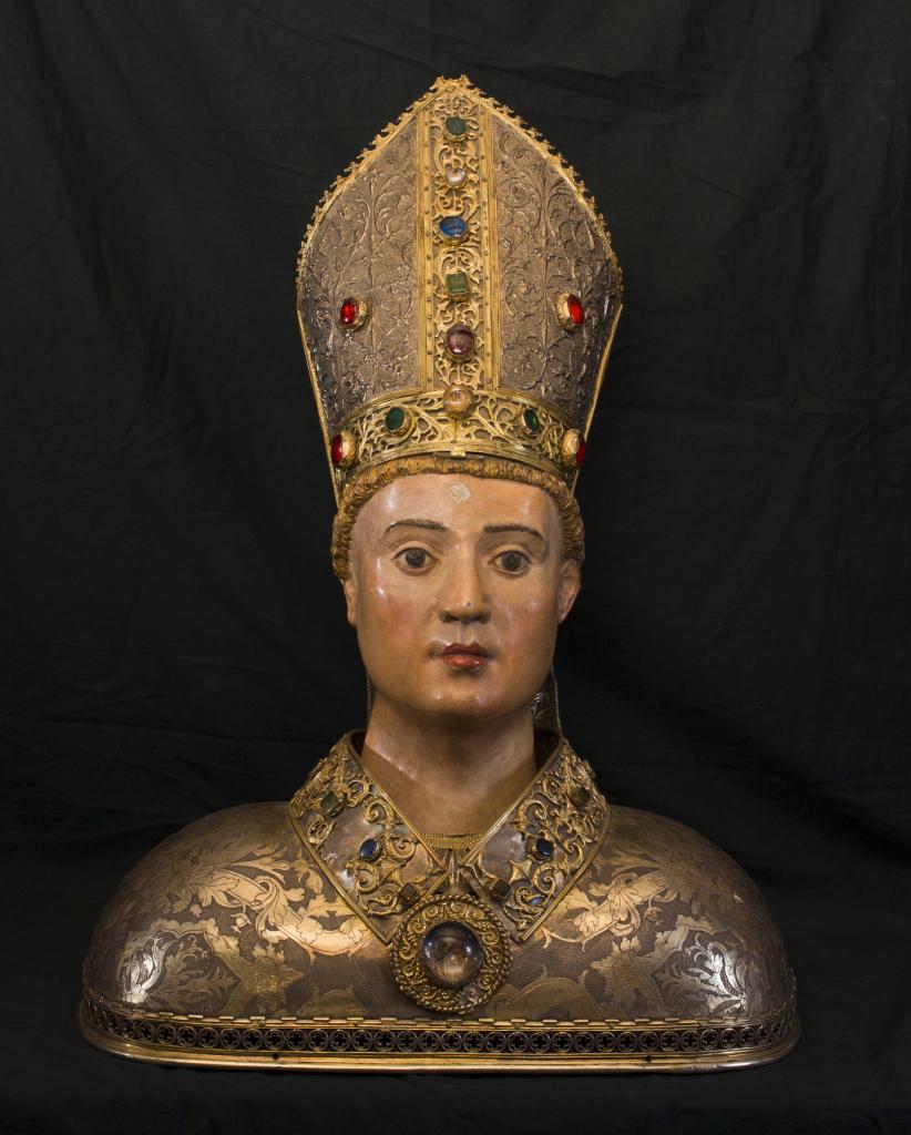 Buste reliquaire de st-Lizier, Antoine Favier, 1518