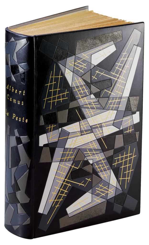 Camus Albert, La Peste, Paris, Gallimard, 1947. Reliure mosaiquée de pierre-lucien martin LIBRAIRIE-L'EXEMPLAIRE
