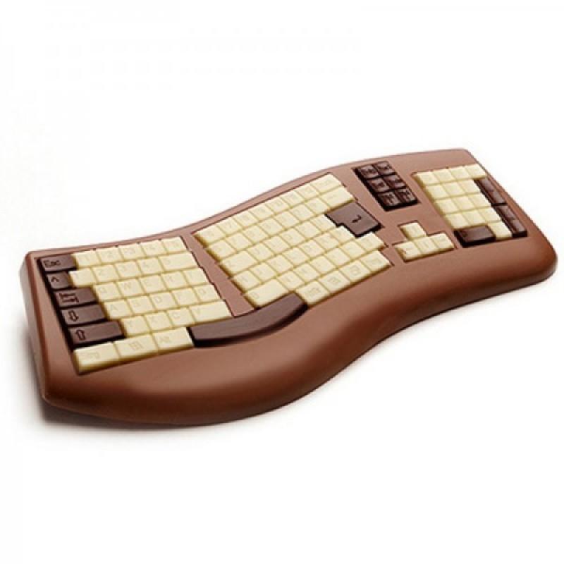 Clavier PC chocolat