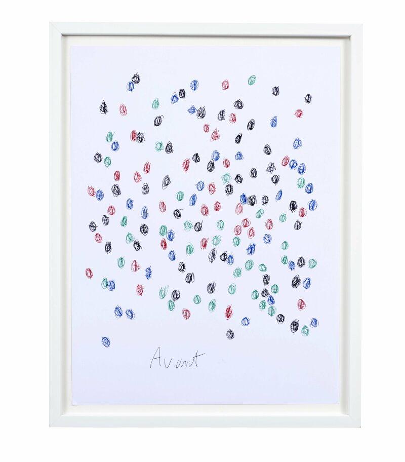 CLOSKY Claude- AvantAprès (4 couleurs)- 2004 - 29.5 x 39.5 cm- stylo à bille BIC(r) sur papier-  (c)Charly Gosp- Courtesy l artiste et Collection BIC -PART1