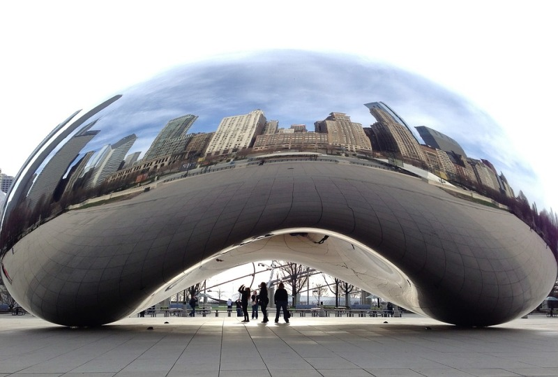 Cloud Gate, Anish Kapoor, 2006 © Pixabay