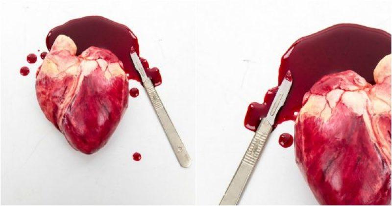 Coeur humain en chocolat