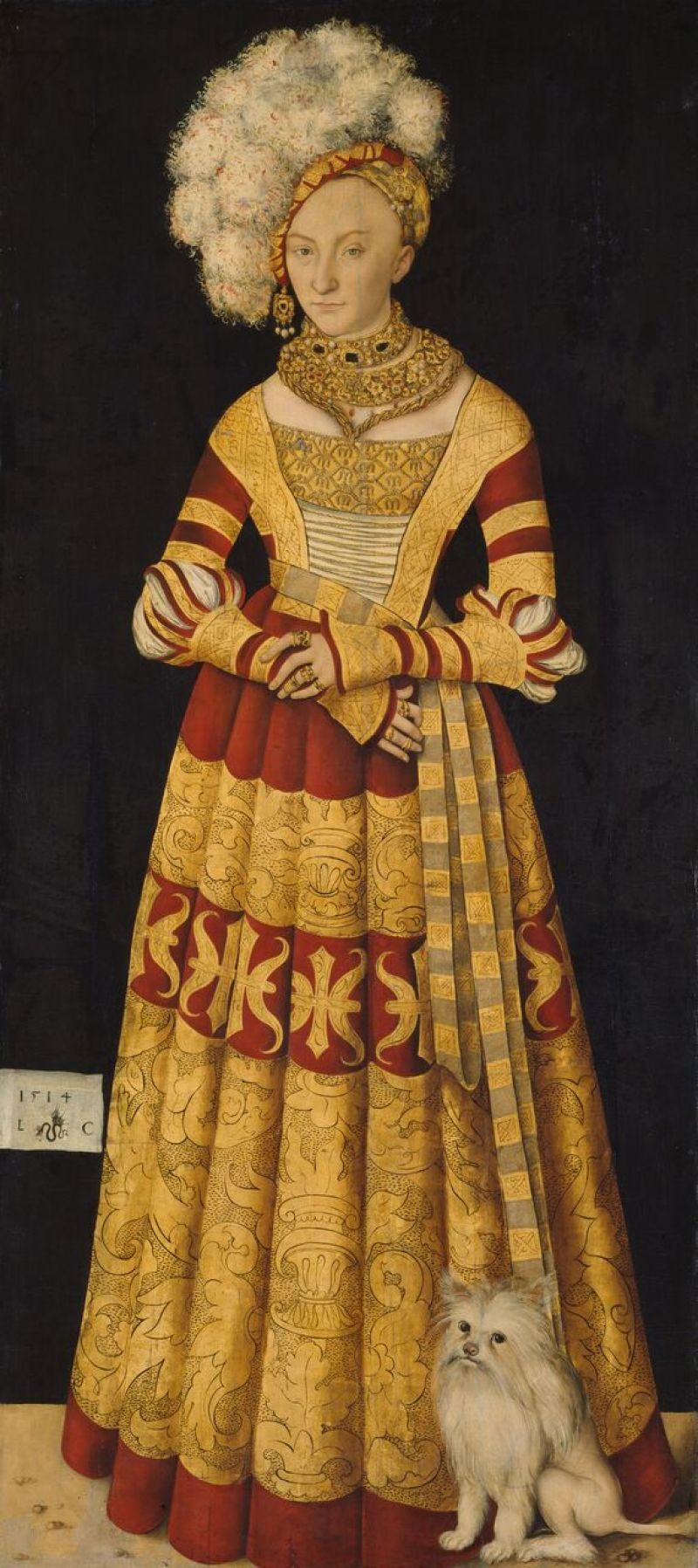 Dresden, Alte Meister_Lucas Cranach the Elder, Catherine of Mecklenburg