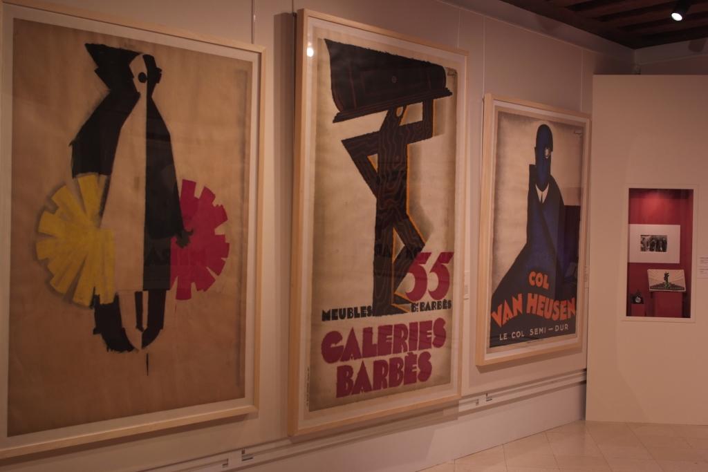 Vue de l'exposition de Charles Loupot
