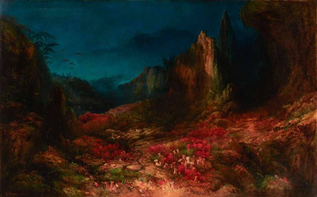 Edward MORAN, The Valley in the Sea, 1862 Courtesy of Indianapolis Museum of Art at Newfields