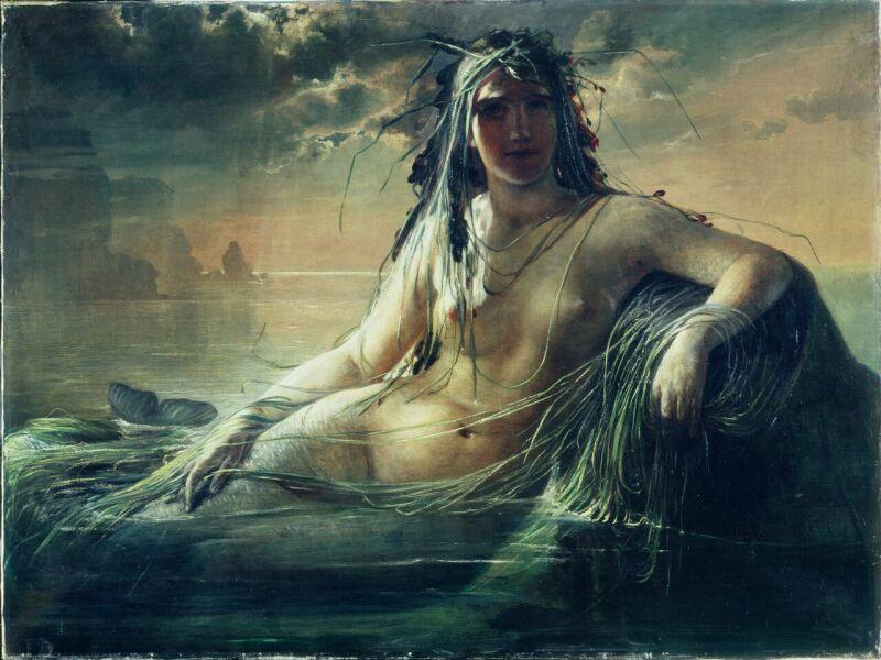 Élisabeth JERICHAU-BAUMANN, Une Sirène, 1873 © Ny Carlsberg Glyptotek, Copenhagen