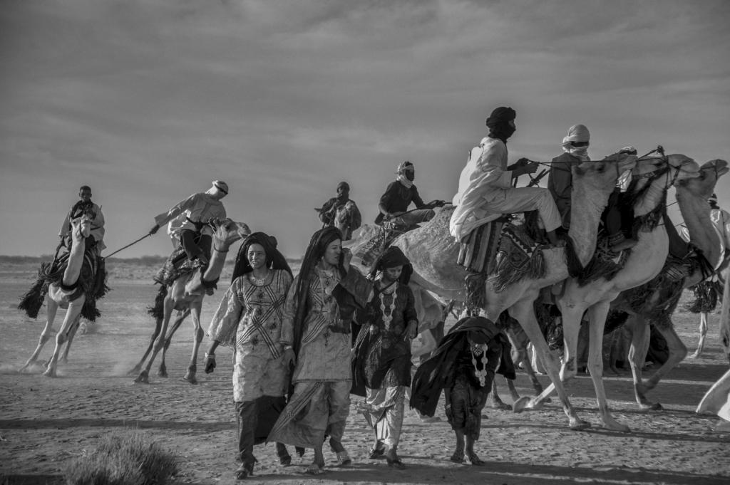 Fantasia avec les chameaux, Agadez, 17.12.2016