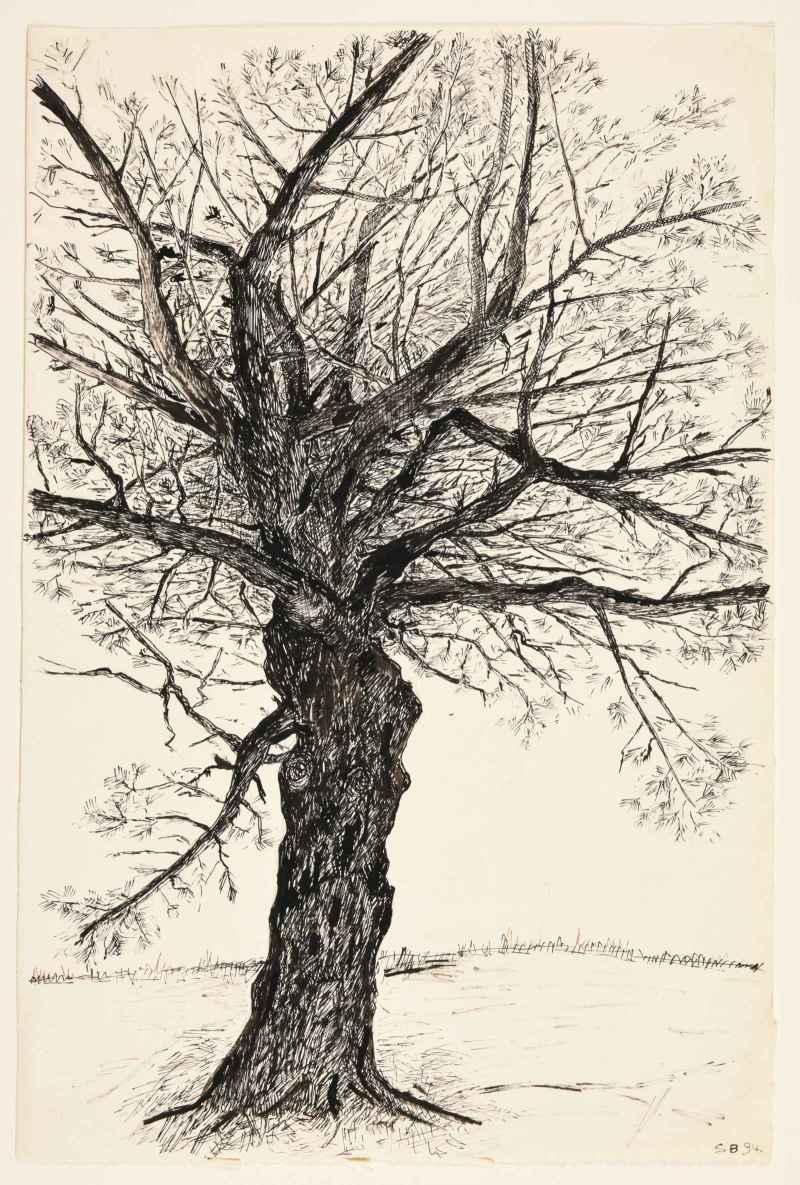 Simone Boisecq, Sans titre, série des arbres, 1994 (c) Adagp