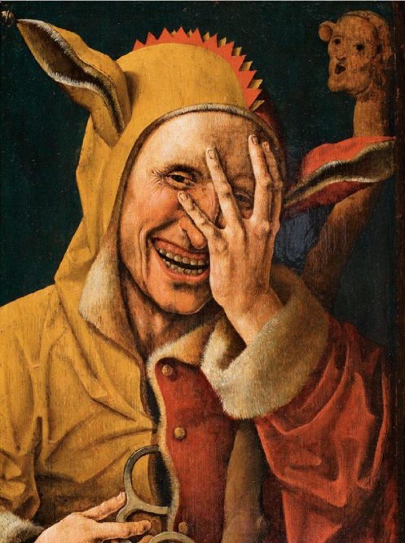 Cornelisz, Fou qui regarde à travers ses doigts, 1500 © Diane de Selliers
