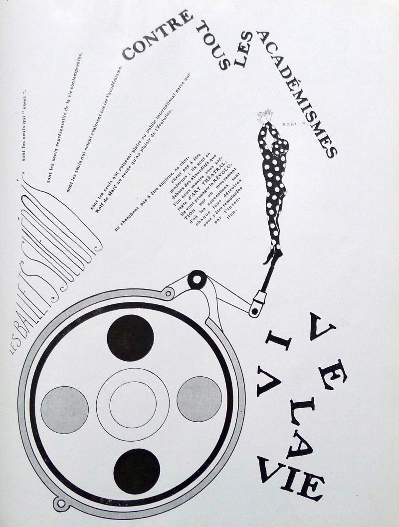 Francis Picabia RelÉche. programme pour les Ballets 1924 LIBRAIRIE SOLSTICE RARE BOOKS