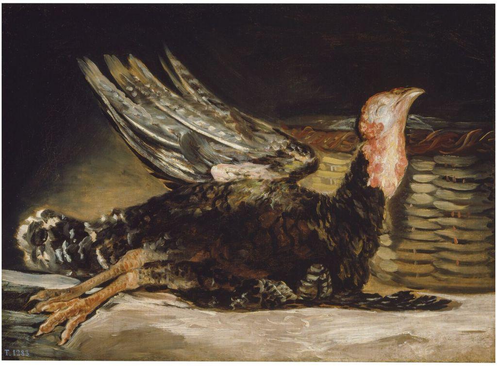 Francisco de Goya, Dead Turkey Pavo muerto 1808 – 1812 Oil on canvas, 45 x 62 cm © Museo Nacional del Prado