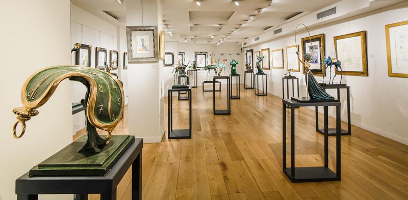 Vue de la Galerie Dalí Paris, 2016