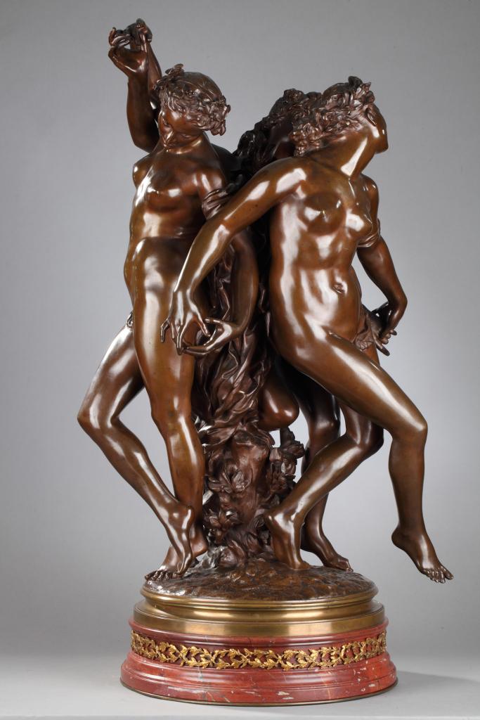 Jean Baptiste Carpeaux Les trois grÉces circa 1875 hauteur du bronze 77 cm Jean Franáois Bourriaud, expert en Art nouveau et Art dÇco