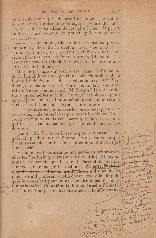 Jeu d'épreuves complet de Du côté de chez Swann de Marcel Proust Librairie Henri VIGNES