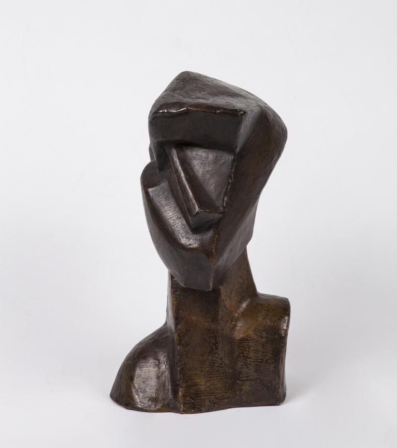 Joseph Csaky, sculture en bronze, patine brun doré. Robert Vallois expert en tabeaux, sculpture et céramique contemporaines
